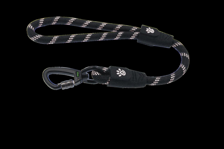 "20"" Reflective Traffic Rope Leash w/ Super Soft Rubber Handle - Click & Lock"