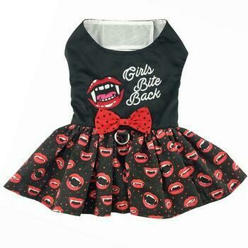 Halloween Dog Harness Dress - Girls Bite Back