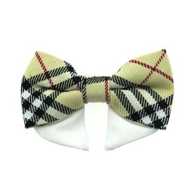 Universal Dog Bow Tie - Tan Plaid