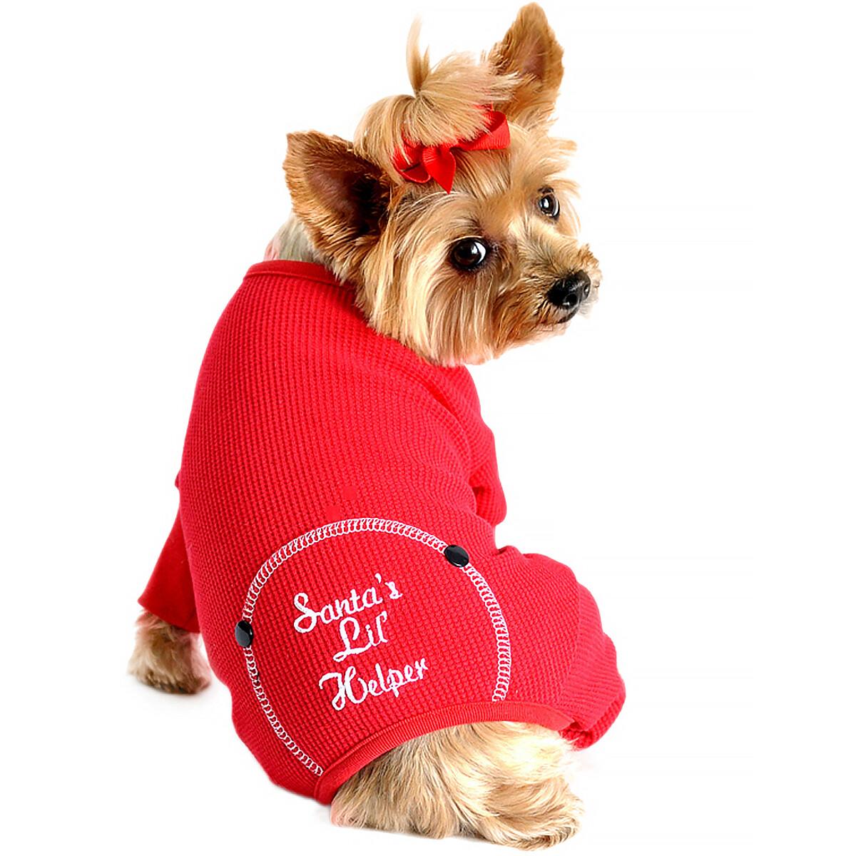 "Christmas Dog Pajama - ""Santa's Lil' Helper"""