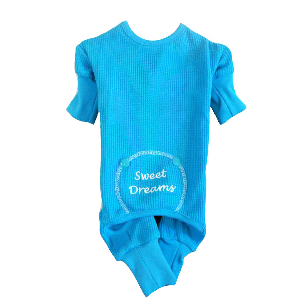 """Sweet Dreams"" Embroidered Dog Pajamas"