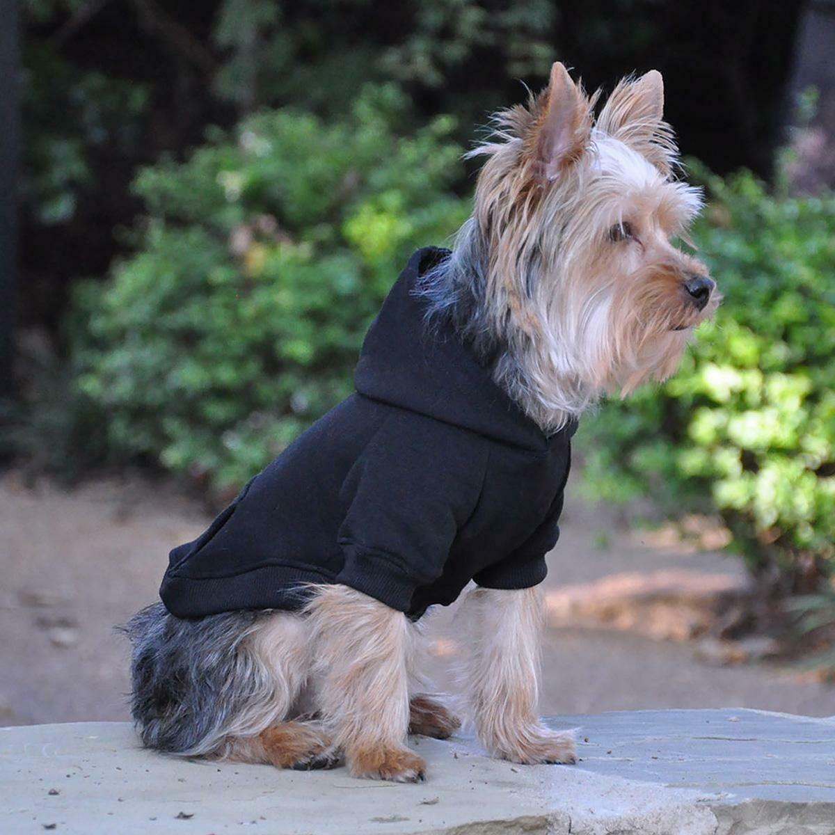 Flex-Fit Dog Hoodie (Black)