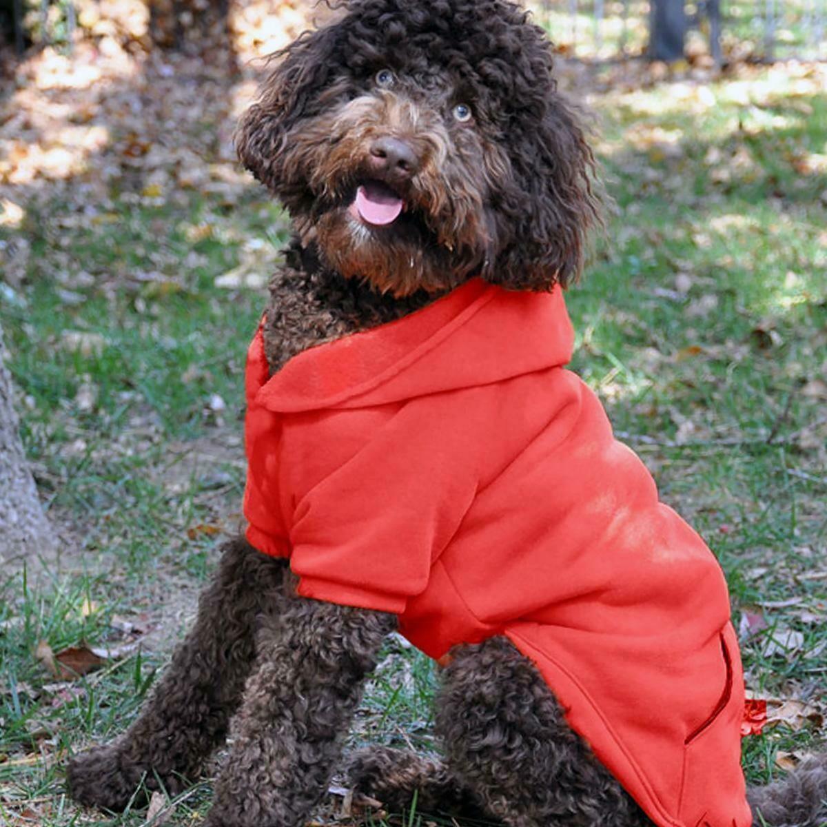 Flex-Fit Dog Hoodie (Red)