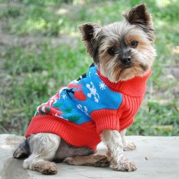 Combed Cotton Holiday Sweater (Snowman)