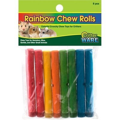 Rainbow Chews Rolls Small Animal Chew - Assorted - 8 Piece