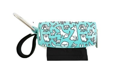 Aqua w/ White Dogs Duffel (Limited Edition)