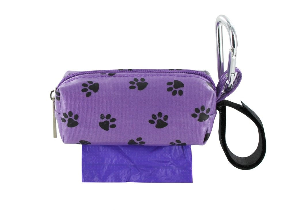 Purple w/ Black Paws Duffel