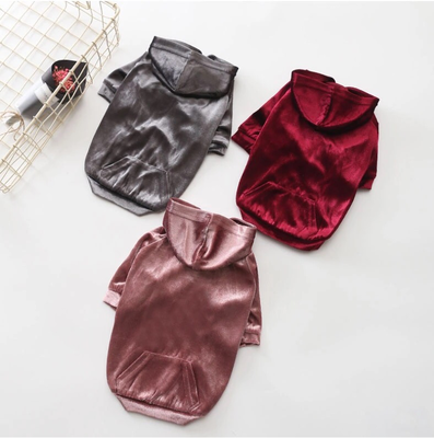Fashion Velvet Hoodies - Burgundy