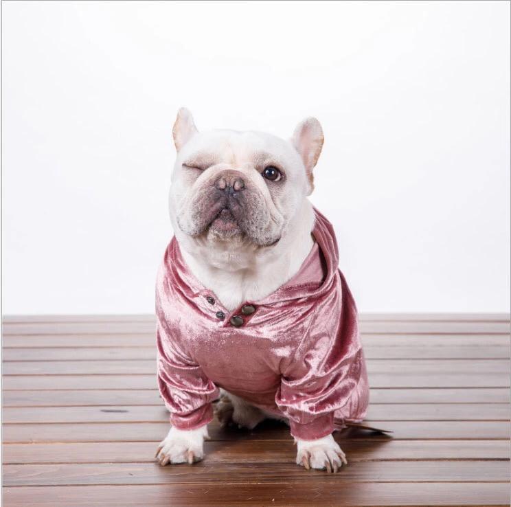 Fashion Velvet Hoodies - Pink