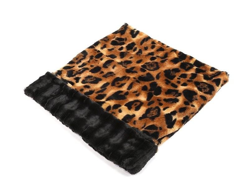 Big Cat & Black Mink Cuddle Pouch