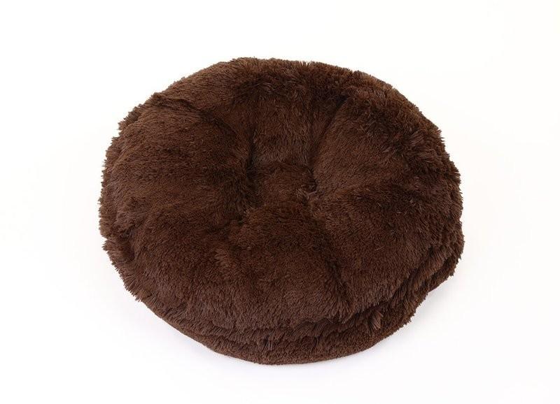 Chocolate Shag Bagel Bed