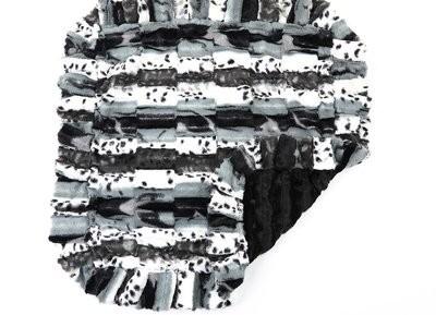 Exotic Black-Grey and Black Mink Blanket