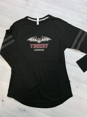 Sparkle Stripe Crew - Transy Lacrosse