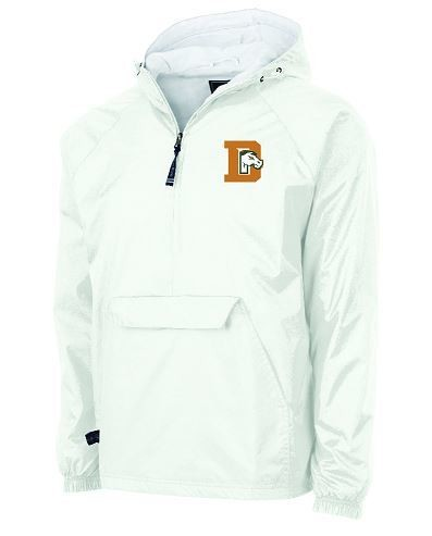 Charles River 1/2 Zip Lined Rain Pullover with choice of left chest Logo (FDG)