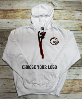 Lace Up Hoodie with Choice of Logo (FDGS)