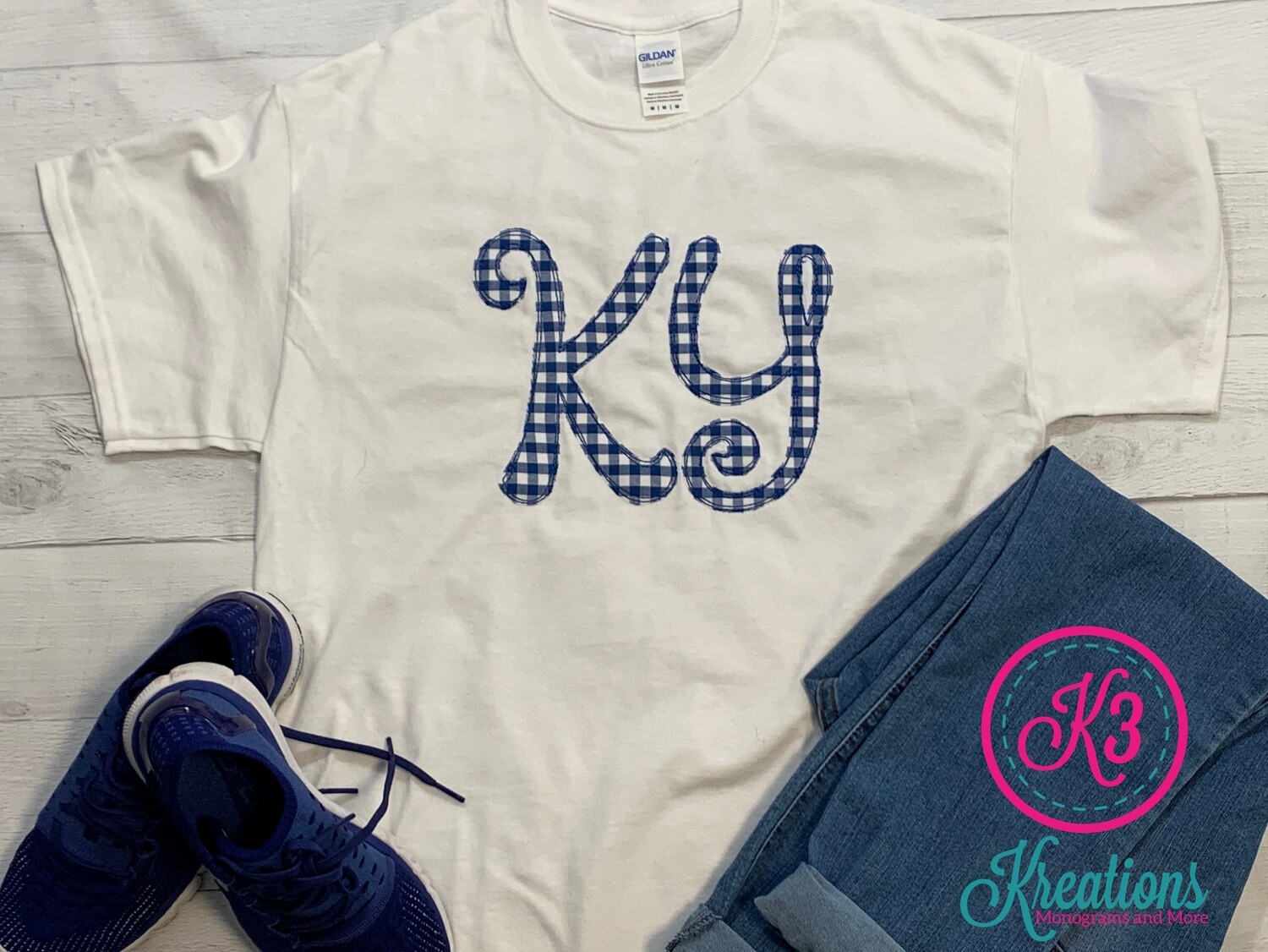 KY Gingham Scribble Short Sleeve Shirt