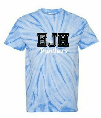 Tie Dye Short Sleeve T-shirt - EJH Panthers - Varsity Letters