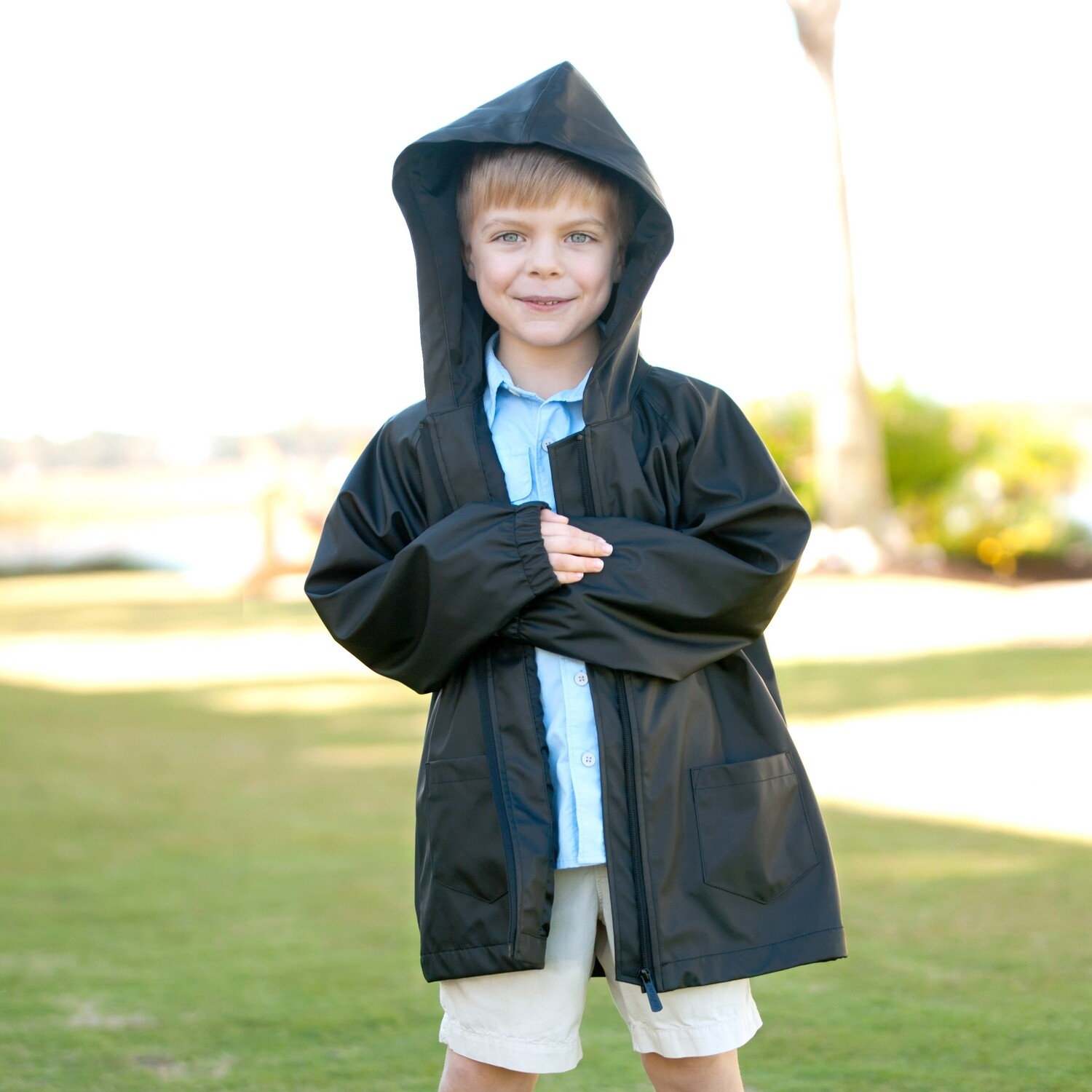 Black Kids' Rain Jacket