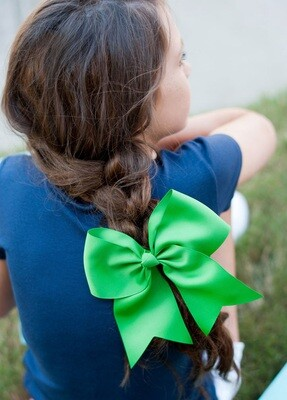 Green Hair Bow