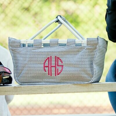 Houndstooth Market Tote
