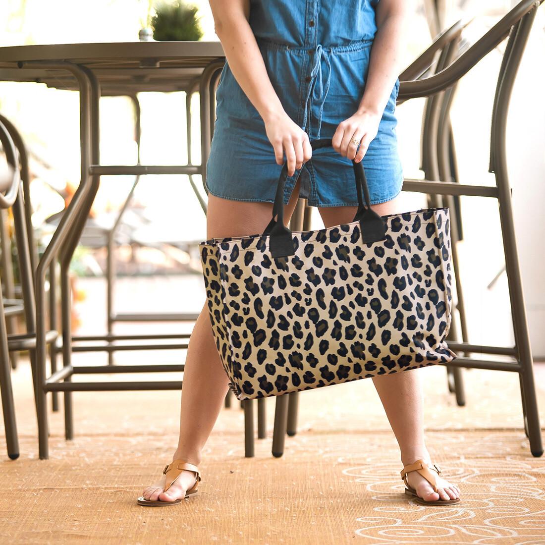 Wild Side Leopard Tote Bag