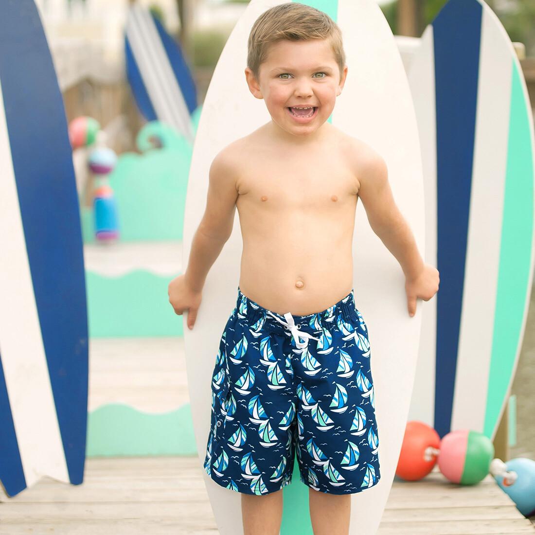 Sea Breeze Boys' Swim Trunks