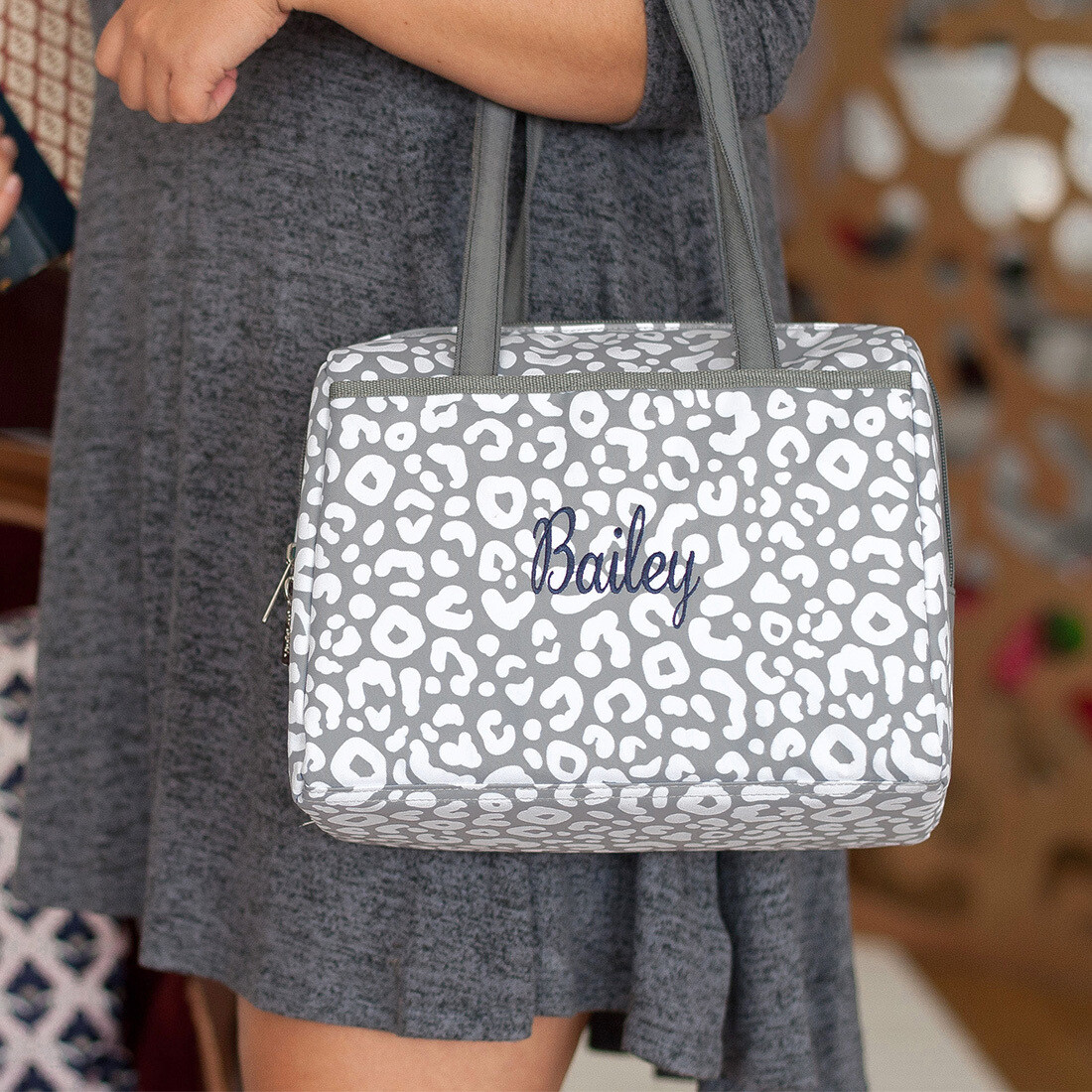 Smokey Leopard Cooler Tote