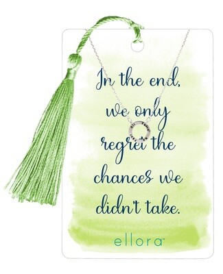All Faith, No Fear Circle Necklace