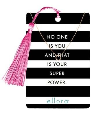CZ Circle Necklace - Super Power