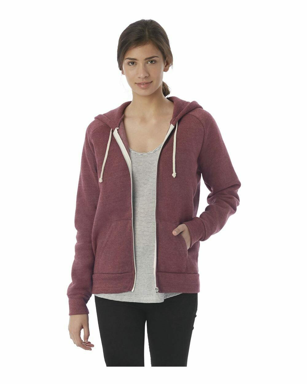 Ladies Adrian Eco-Fleece Full-Zip Hooded Sweatshirt