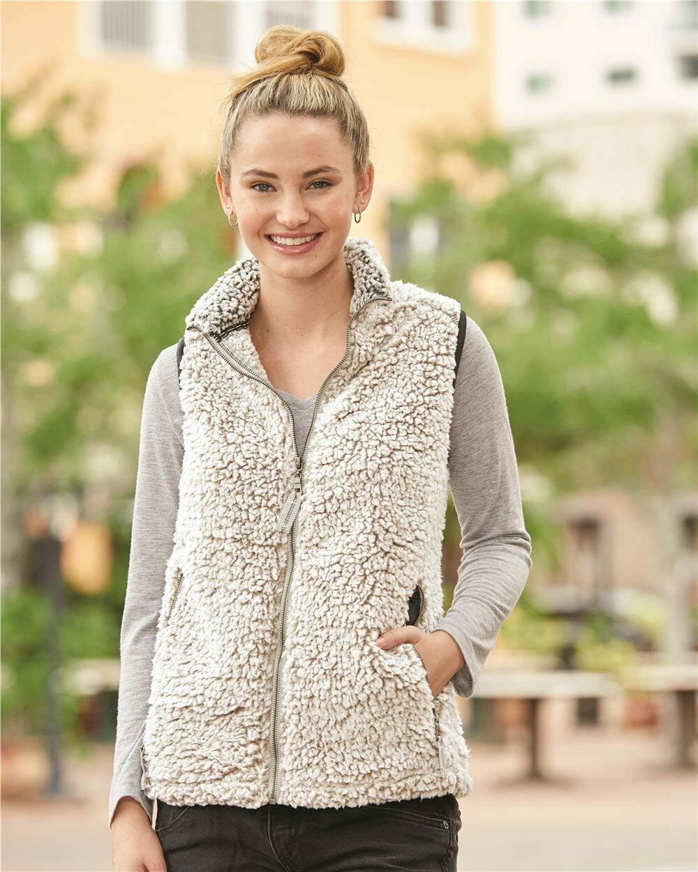 Ladies Epic Sherpa Full-Zip Vest