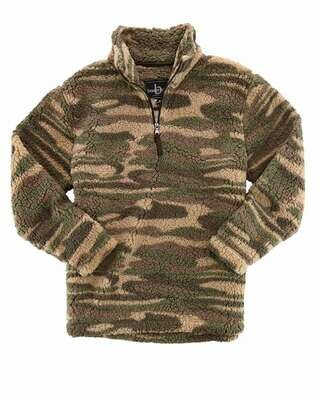 Unisex Camo Sherpa Fleece Quarter-Zip Pullover