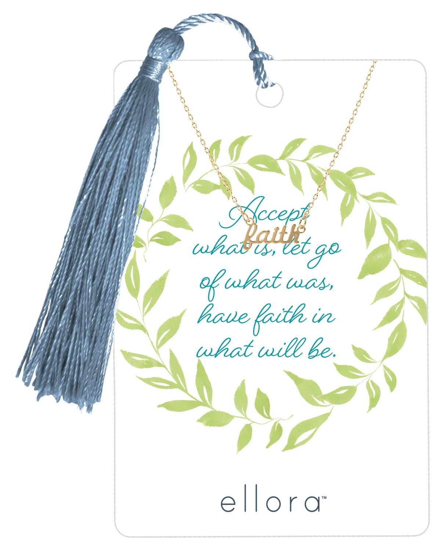Faith Script Necklace