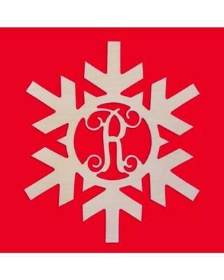 Snowflake Wood Monogram