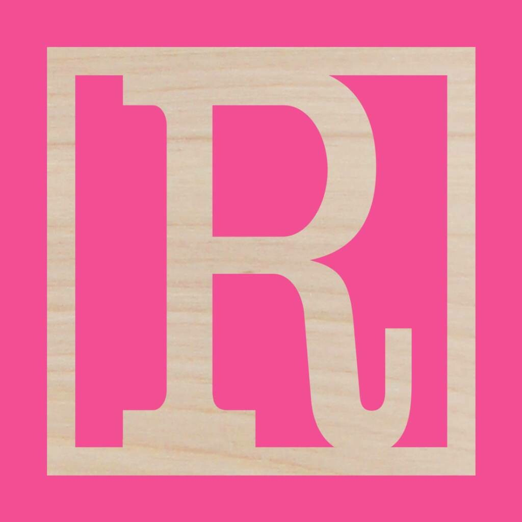 Classic Square Wood Monogram