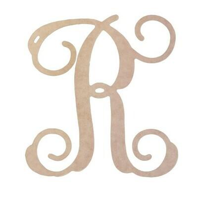 """18"""" Vine Letter Wood Monogram"""