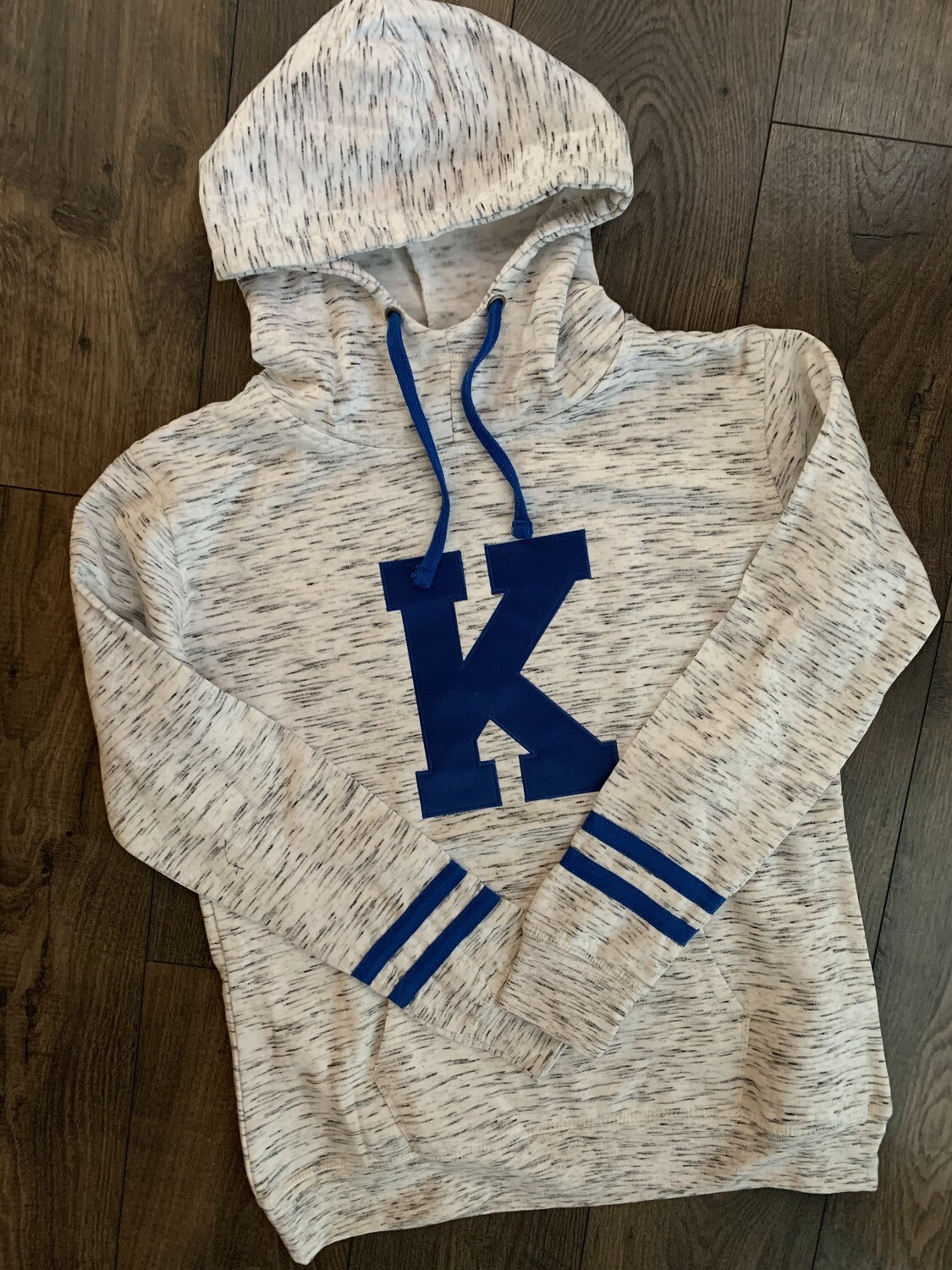 Ladies Big K Melange Striped Fleece Hoodie