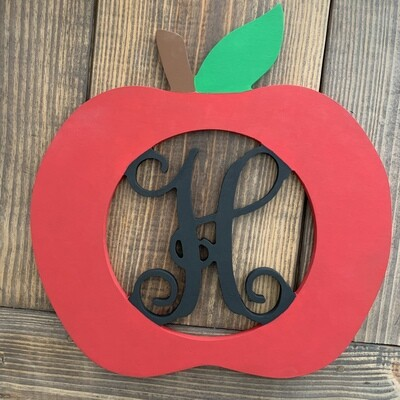 """18"""" Apple Wood Monogram"""