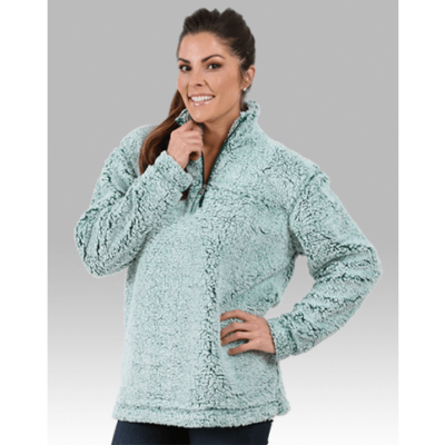 Unisex Sherpa Fleece Quarter-Zip Pullover (FDGS)