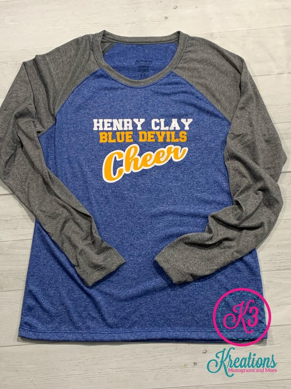 Ladies Kinergy Raglan Tee - Henry Clay Cheer