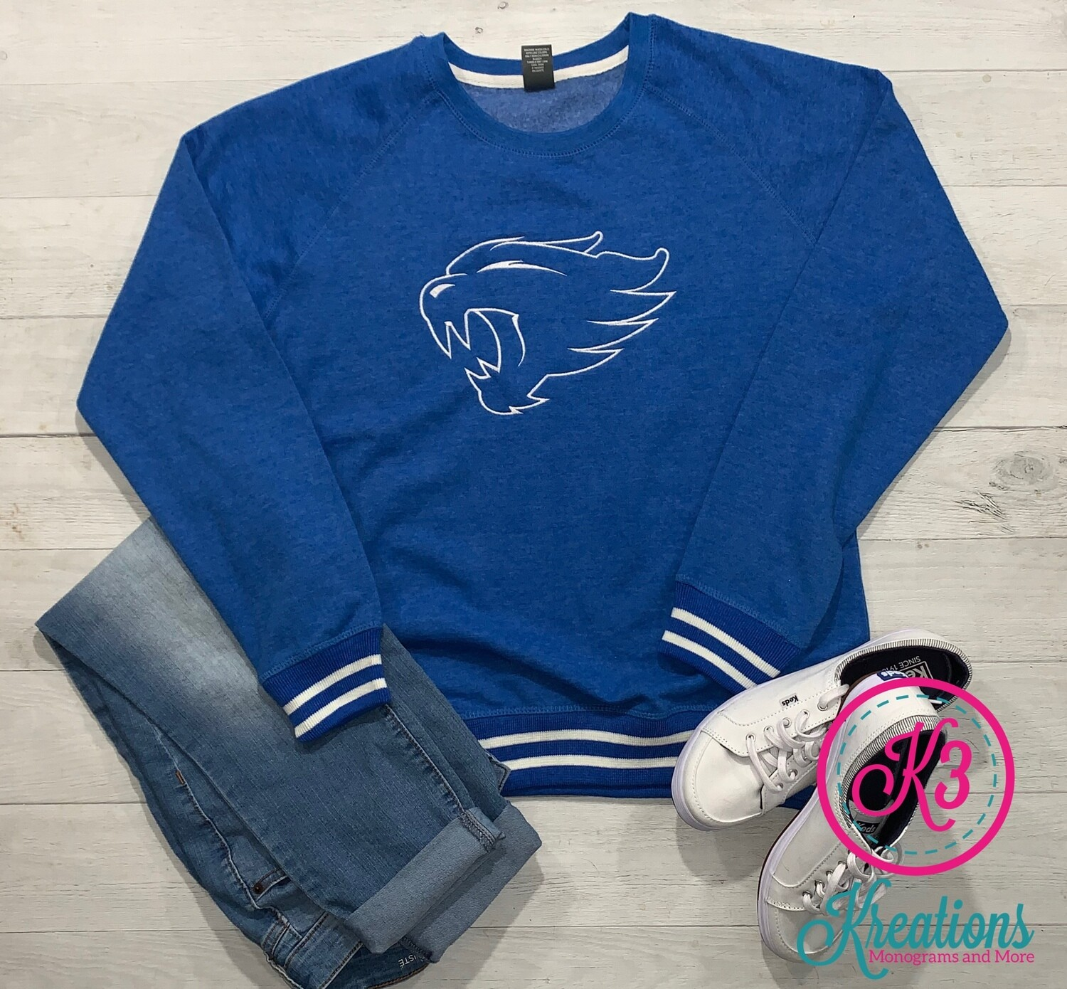 Ladies Wildcat Relay Crewneck Sweatshirt