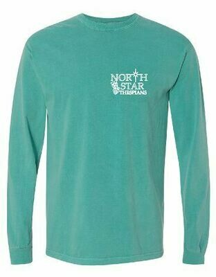 Comfort Color Long Sleeve T-shirt with choice of left chest design (FDD)