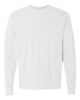 Comfort Color Long Sleeve T-shirt with choice of front chest design (FDD)