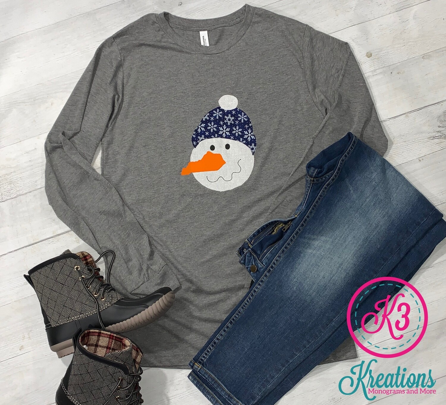 Kentucky Snowman Long Sleeved Tee - Youth