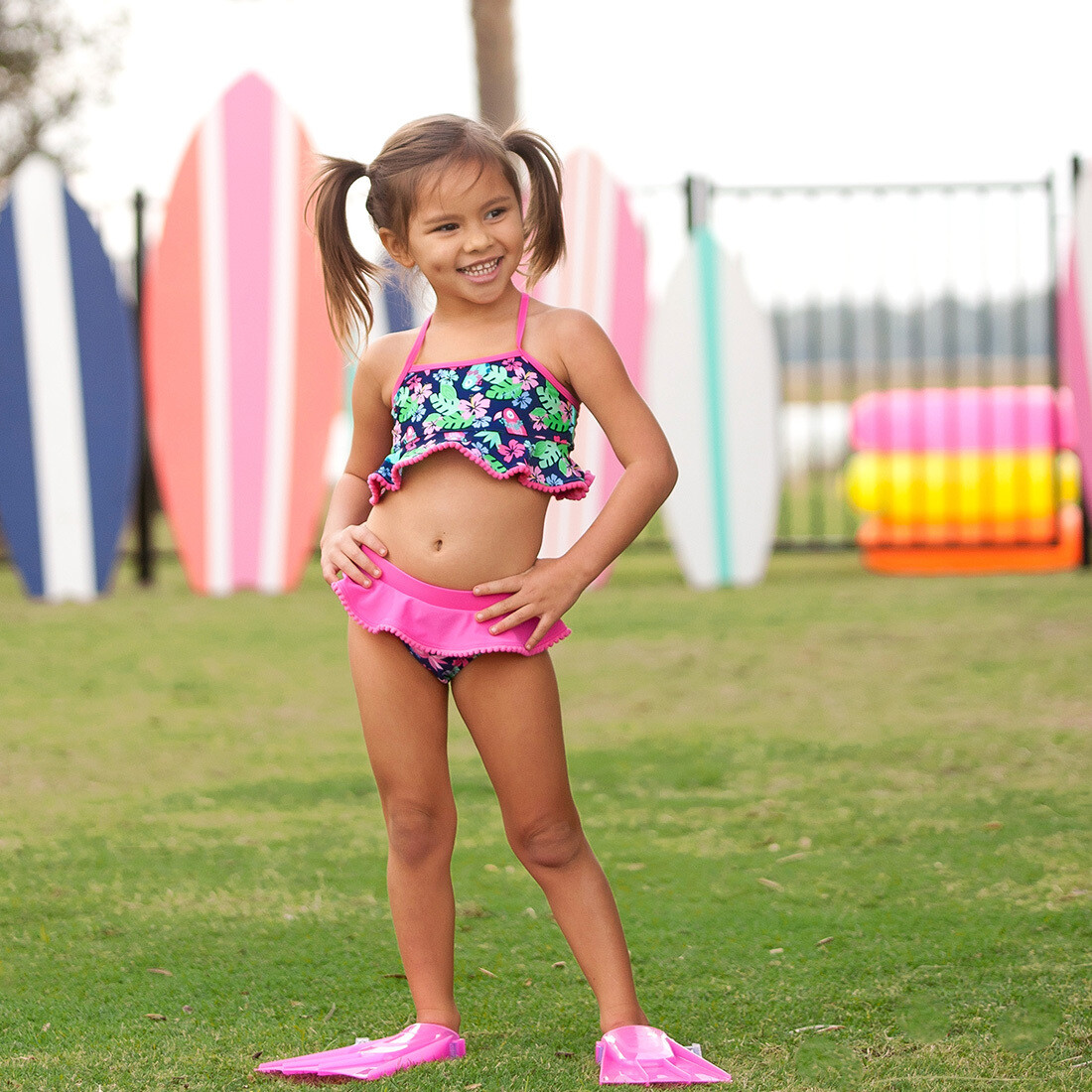 Tropi-Cool Girls' Swim Set