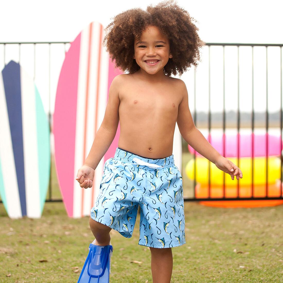 Hooked Boys Swim Trunks