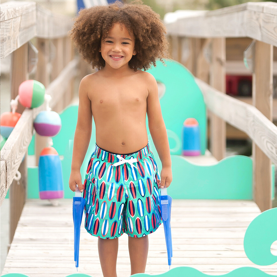 Wave Rider Boys Swim Trunks