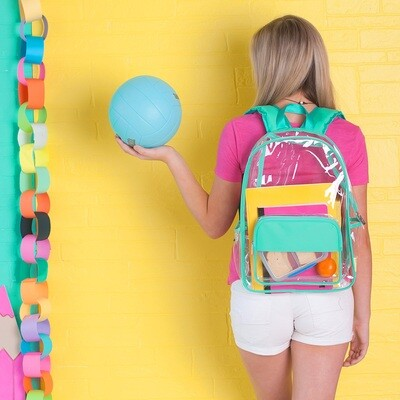 Mint Clear Backpack