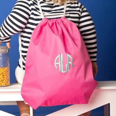 Hot Pink Drawstring Bag