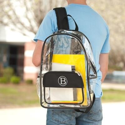 Black Clear Backpack